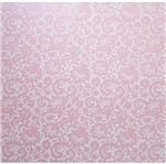 Papel Scrapbook Litocart 30,5x30,5 LSCPL-026 Perolizado Renda III Rosa
