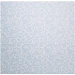 Papel Scrapbook Litocart 30,5x30,5 LSCPL-027 Perolizado Renda III Azul
