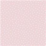 Papel Scrapbook Litocart Lsc-330 Simples 30,5x30,5cm Estrelas Brancas com Fundo Rosa