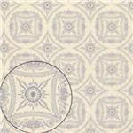 Papel Scrapbook Litocart Lsc-300 Simples 30,5x30,5cm Retrô Branco e Lilás