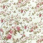 Papel Scrapbook Litocart Lsc-301 Simples 30,5x30,5cm Rosas e Folhas