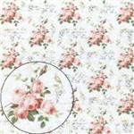 Papel Scrapbook Litocart Lsc-306 Simples 30,5x30,5cm Rosas
