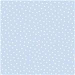 Papel Scrapbook Litocart Lsc-331 Simples 30,5x30,5cm Estrelas Brancas com Fundo Azul Claro