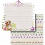 Papel Scrapbook Litocart Lscd-422 Dupla Face 30,5x30,5cm Cachorro e Borboletas