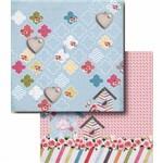 Papel Scrapbook Litocart Lscd-403 Dupla Face 30,5x30,5cm Casa e Rosas