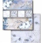 Papel Scrapbook Litocart Lscd-401 Dupla Face 30,5x30,5cm Orquídea e Tira de Filme