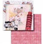 Papel Scrapbook Litocart Lscd-405 Dupla Face 30,5x30,5cm Torre de Pisa