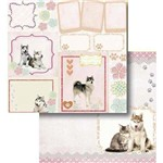 Papel Scrapbook Litocart Lscd-421 Dupla Face 30,5x30,5cm Tags Cachorro