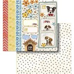 Papel Scrapbook Litocart Lscd-419 Dupla Face 30,5x30,5cm I Love Dog