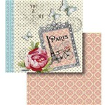Papel Scrapbook Litocart Lscd-424 Dupla Face 30,5x30,5cm Paris