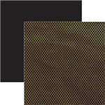 Papel Scrapbook Marroquino Dourado e Preto Sdf620 - Toke e Crie