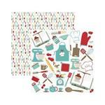 Papel Scrapbook MB - SMB019 - Cozinha Recortes - Toke e Crie