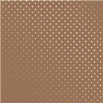 Papel Scrapbook Metalizada - SDF714 - Estrelas Prateado FD Kraft - Toke e Crie