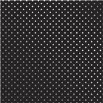 Papel Scrapbook Metalizada - SDF719 - Estrelas Prateado FD Preto - Toke e Crie