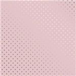 Papel Scrapbook Metalizada - SDF729 - Estrelas Prateado FD Rosa - Toke e Crie
