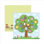 Papel Scrapbook Minha Familia Arvore SDF397 Toke e Crie