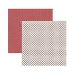 Papel Scrapbook Mini Básico - SMB024 - Cozinha Ponto Cruz - Toke e Crie