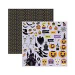 Papel Scrapbook Mini Básico - SMB39 - Halloween Recortes - Toke e Crie