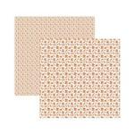 Papel Scrapbook Multitons - KFSB511 - Florzinhas Laranja