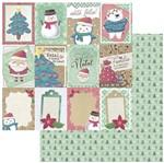 Papel Scrapbook Natal Litoarte 30,5x30,5 SDN-119 Tag Feliz Natal