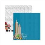 Papel Scrapbook New York Prédios SDF478 - Toke e Crie