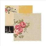 Papel Scrapbook Paris Fashion Rosas SDF474 - Toke e Crie