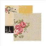 Papel Scrapbook Paris Fashion Rosas SDF474 - Toke e Crie