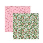 Papel Scrapbook SDF752 Festa DF Flamingos Estampas