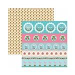 Papel Scrapbook - SDF751 - Festa DF Flamingos Selos e Tags