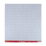 Papel Scrapbook Simples Arabescos Azul e Branco Lsc-079 - Litocart