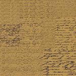 Papel Scrapbook Simples Manuscrito Marrom Kfsk009 - Toke e Crie By Flavia Terzi