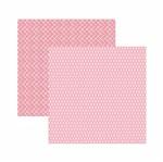Papel Scrapbook Toke e Crie 30,5x30,5 KFSB542 Rosa Bebê Xadrez