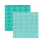 Papel Scrapbook Toke e Crie 30,5x30,5 KFSB541 Azul Turquesa Arabesco