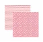Papel Scrapbook Toke e Crie 30,5x30,5 KFSB547 Rosa Bebê Floral
