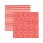 Papel Scrapbook Toke e Crie 30,5x30,5 KFSB568 Coral Floral