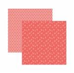 Papel Scrapbook Toke e Crie 30,5x30,5 KFSB568 Coral Floral