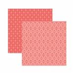 Papel Scrapbook Toke e Crie 30,5x30,5 KFSB569 Coral Arabesco
