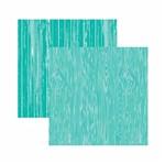 Papel Scrapbook Toke e Crie 30,5x30,5 KFSB537 Azul Turquesa Madeira