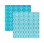 Papel Scrapbook Toke e Crie 30,5x30,5 KFSB583 Azul Bebê Arabesco