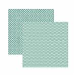 Papel Scrapbook Toke e Crie 30,5x30,5 KFSB528 Verde Claro Xadrez