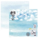 Papel Scrapbook Toke e Crie 30,5x30,5 SDF843 Hora de Viajar Selos