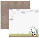 Papel Scrapbook Toke e Crie 30,5x30,5 SDF847 Baby Panda no Jardim