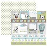 Papel Scrapbook Toke e Crie 30,5x30,5 SDF849 Baby Panda Cartões