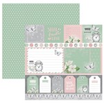 Papel Scrapbook Toke e Crie 30,5x30,5 SDF856 Verde e Rosa Cartões