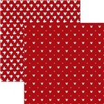 Papel Scrapbook Toke e Crie Sbd06 30,5x30,5cm Mickey Mouse Estampado Vermelho