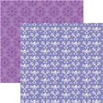 Papel Scrapbook Toke e Crie SDFD152 Dupla Face 30,5x30,5cm Rapunzel 1 Estampado