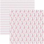 Papel Scrapbook Toke e Crie Smb044 30,5x30,5cm Elefantes Rosa By Ivana Madi