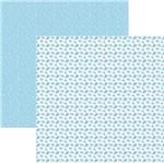Papel Scrapbook Toke e Crie Smb045 30,5x30,5cm Baleias Azul By Ivana Madi