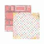 Papel Scrapbook WER136 30,5x30,5 Bo Bunny Paz