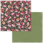 Papel Scrapbook WER267 30,5x30,5 Bo Bunny Bouquet Flores